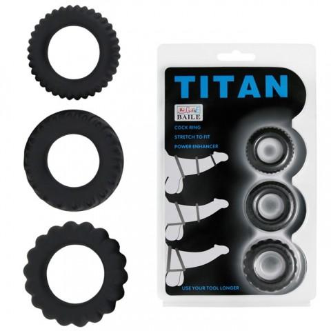 Bộ 3 vòng đeo dương vật Titan V0148